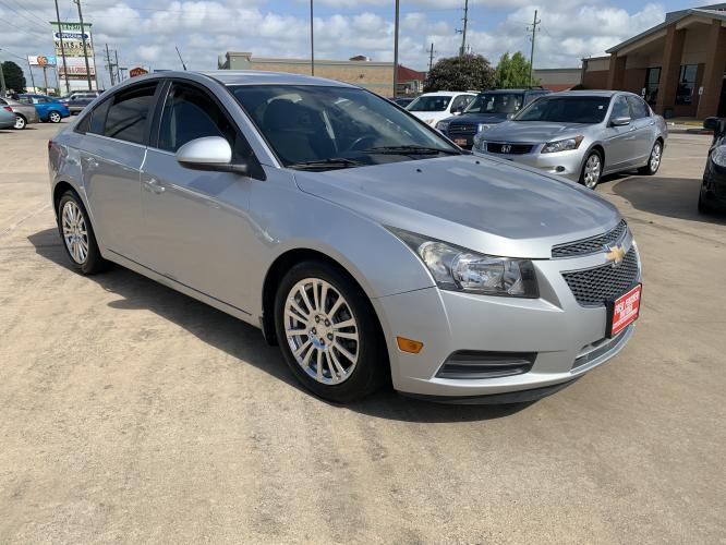 2012 SILVER /black Chevrolet Cruze Eco (1G1PJ5SC0C7) with an 1.4L L4 DOHC 16V TURBO engine, 6-Speed Automatic transmission, located at 14700 Tomball Parkway 249, Houston, TX, 77086, (281) 444-2200, 29.928619, -95.504074 - Photo #0