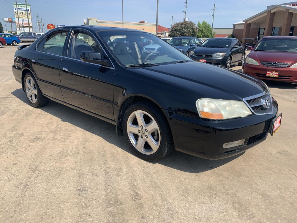 2002 black /tan Acura TL Type-S with Navigation System (19UUA56952A) with an 3.2L V6 SOHC 24V engine, 5-Speed Automatic Overdrive transmission, located at 14700 Tomball Parkway 249, Houston, TX, 77086, (281) 444-2200, 29.928619, -95.504074 - Photo #0