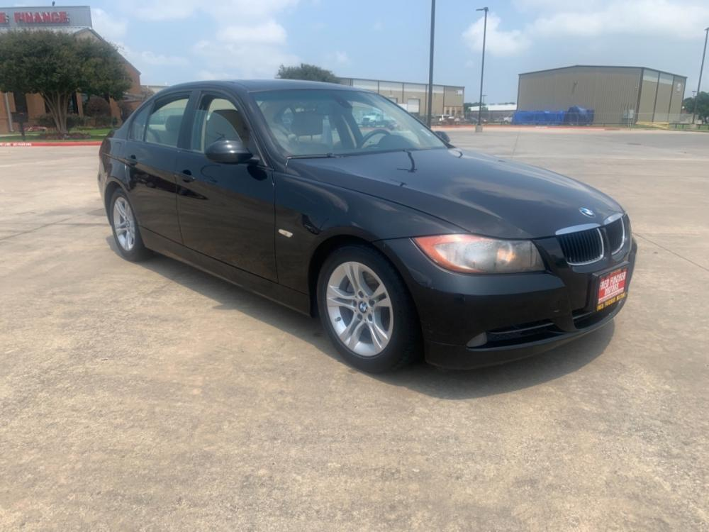 2008 black /tan BMW 3-Series 328i (WBAVA37568N) with an 3.0L L6 DOHC 24V engine, auto transmission, located at 14700 Tomball Parkway 249, Houston, TX, 77086, (281) 444-2200, 29.928619, -95.504074 - Photo #0